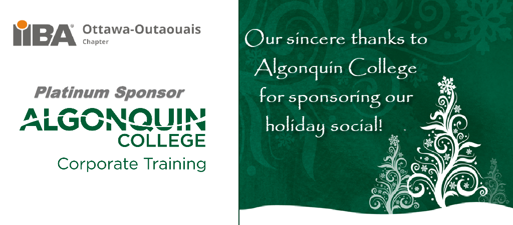 Thank you Algonquin College for sponsoring our Holiday Social
