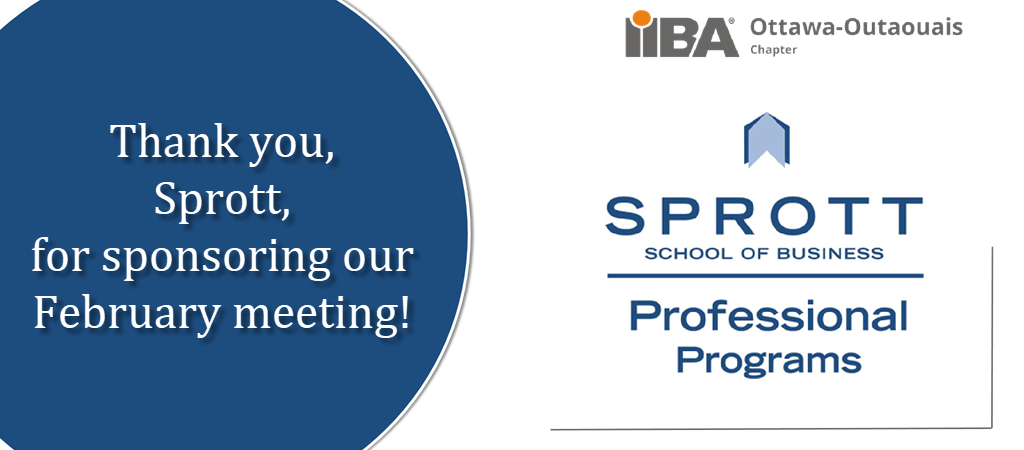 Thank you Sprott for sponsoring our February meeting